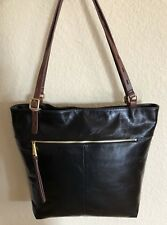 Nwt Women's Hobo International Leather Shoulder Bag Tote Purse, Lennon, Black