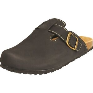 Supersoft Clogs Herren Hausschuhe klassisch Pantoffeln schwarz 176002 Gummisohle