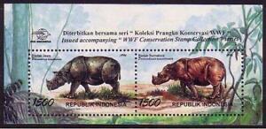 Indonesia WWF Javan and Sumatran Rhinoceros MS 1996 MNH SG#MS2271 MI#Block 113