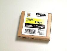 NEW ORIGNIAL EPSON STYLUS PRO 3800/3880 80ML YELLOW T5804