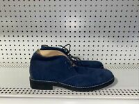 Joseph Abboud Mens Suede Casual Ankle Chukka Boots Size 10.5 M Navy Blue