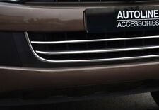Chrome 3Pc Lower Bumper Grille Trim Covers To Fit Volkswagen Amarok (2010-16)