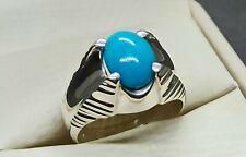 Natural Neshapuri Feroza Ring Sterling Silver 925 Handmade Turquoise Women Ring