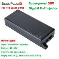 Secuplug+ 50W Super-power PoE Injector 10/100/1000M For IP PTZ Speed dome Camera
