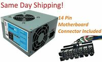 New PC Power Supply Upgrade for Lenovo H50-50 Computer plus 14 Pin Main Cable