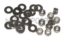 """SS 10-1/4""""-28 NYLOC LOCK NUTS & 20-1/4"""" FLAT WASHERS STAINLESS STEEL 18-8  PARTS"""