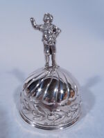 Antique Bell - Figural Finial  English Import - German Sterling Silver