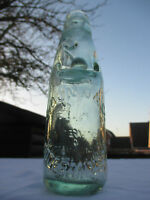 VINTAGE ANTIQUE OLD 6oz CODD MARBLE VICTORIAN BOTTLE DUNN & CO KIDDERMINSTER
