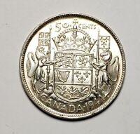 Canada 1944 Silver 50 Cents Half Dollar Coin