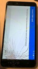 ZTE ZMAX Z981 16GB Black (UNCERTAIN) Smartphone LOCK Good Used CRACKED GLASS
