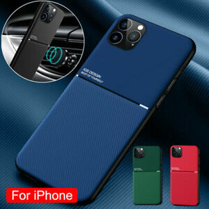For iPhone 13 Pro Max 12 11 Pro Max XR XS Shockproof Leather Magnetic Case Cover