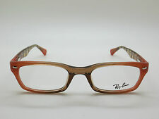 NEW Authentic Ray Ban RB 5150 5487 Peach/Brown 50mm RX Eyeglasses