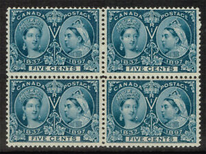 CANADA SCOTT#54 MINT NEVER HINGED BLOCK OF FOUR JUBILEE STAMP