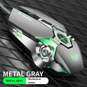 K-Snake Q7 Mouse Game Wired 7 Color Illuminated USB 4000 DPI Mechanical Gaming