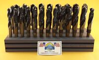"Drill Hog® Silver & Deming Drill Bit Set M7 Index 33 Pc 1/2~1"" Lifetime Warranty"