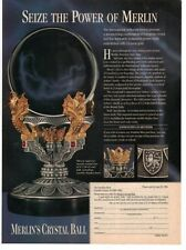 1996 Magazine Advertisement Page Merlin's Crystal Ball Collectible Sign Ad