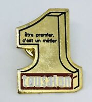 Tousalon Number 1 Premier Badge Pin France Vintage Rare (G5)