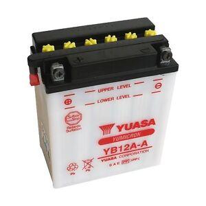 Batterie Yuasa moto YB12A-A HONDA  CB350F, CB350K -
