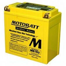New MotoBatt MB16U 12V AGM Sealed Lead Acid YB16B-A Replacement Sport Battery