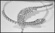 sparkling adjustabke Snake Head Drape Rhinestone Crystal Arm Band Bracelet