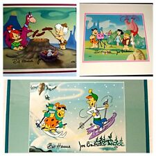 Hanna Barbera Flintstones Artist Proof Cel Edition Number 2 set of 3 Rare cells