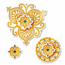 Sizzix Framelits Moroccan Flowers set #658397 Retail $24.99 4 DIES, 4 STAMPS!