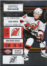 2010/11 Playoff Contenders Playoff Ticket Zach Parise Devils 030/100