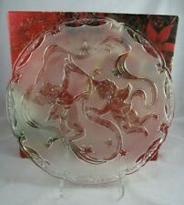 "Vintage Christmas Angels Glass Round Hostess Platter Home Beautiful 15"" Germany"