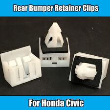 10x Clips Para Honda CIVIC Parachoques trasero retenedor Sujetador de plástico blanco con arandela