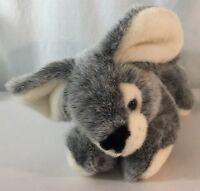 Reclining Rabbit Bunny A&A Plush Grey & Tan Cream Vintage 1998 Easter Bunny