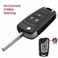 Keyless Entry Uncut Remote Key Fob 4 BTN for Chevrolet Sonic Cruze 315MHz ID46