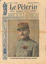Portrait Général Amédée Henri Guillemin l'aéronautique WWI 1917 ILLUSTRATION