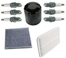 For Lexus RX400h 06-08 Air Cabin Oil Filters & Spark Plugs Basic Tune Up Kit OEM