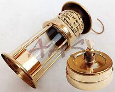 Copper/Brass Oil Lamp~Nautical Maritime Ship Lantern~Ferndale Coal & Mining Co.