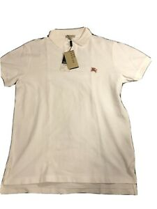 mens burberry polo shirt large