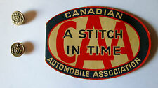 VINTAGE CAA CANADIAN AUTOMOBILE ASSOCIATION SEWING KIT WITH BUTTONS SIGN BADGE