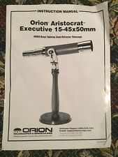 Orion Aristocrat Executive 15-45x50mm Brass Telescope