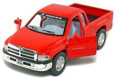 """Brand New 5"""" Kinsmart Dodge Ram 1500 Pickup Truck Diecast Model Toy 1:44 Red"""
