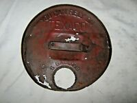 A Rare Rusty Relic Remnant Early Impressed Script Texaco 6 Gallon Drum Lid