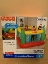 NEW Fisher Price Bouncesational Bouncer Bestway Bounce House with Built-In Pump