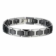 NEW Men Tungsten Carbide Bracelet w/ Therapeutic Magnets OUR BEST SELLER