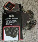 NEW Ladies Mossy Oak Break-Up Country Pop-Top Gloves L/XL Non-Slip Glove/Mittens