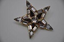 Star Amethyst Rhinestone Brooch