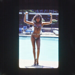 Non Nude 35mm Transparency Slide Female Model Swimsuit Original Pinup S4.8