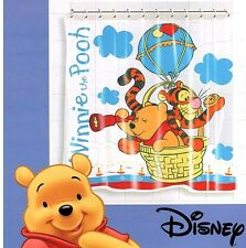 Winnie The Pooh Waterproof Bathroom Standard Bath Shower Curtain + 12 Rings 1404