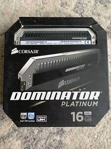 NEW Corsair CMD16GX4M4A2666C16 Dominator Platinum 16GB (4x4GB) DDR4 RAM Memory
