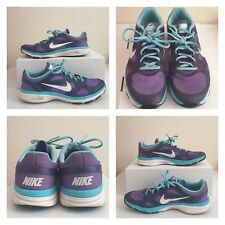 355405f9008a44 NIKE DUAL FUSION TR Womens US 8.5 Purple Training Athletic Shoes 443837 504