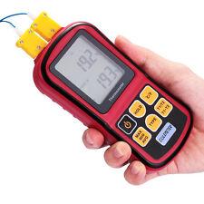 Dual Channel Digital Thermometer mit 2 K-Type Thermocouple Sensor -50℃~ 300℃ Neu