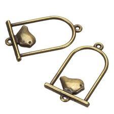 Antique Brass Birdcage Charm Pendants 30x20mm Pack of 2 (B105/11)