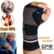 Copper Wrist Support Brace Hands Carpal Tunnel Thumb Arthritis Joint Pain CFR AM